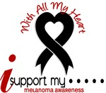 With All My Heart Melanoma Shirts and Gifts