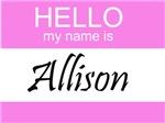 Hello My Name Is Allison