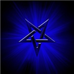 Ominous Blue Inverted Pentagram