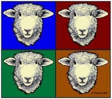 Romney Sheep Pop Art