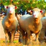 Ewes Watercolor
