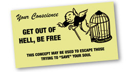 Get Out of Hell Free Card | Strange Unitarian T-shirts & Gifts for Weird Christians