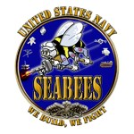 USN Navy Seabees We Build We Fight