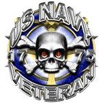 USN Navy Veteran Skull and Bones
