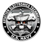 USN Aviation Electronics Tech Skull
