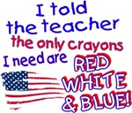 Red White & Blue Crayons