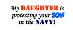 My daughter is protecting your son in the Navy!