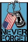 POW/MIA Never Forget Dog Tags