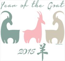 Pastel Year of the Goat Stylized