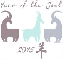 Cool Pastels Year of the Goat Stylized