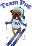 Team Pug Olympug Skier
