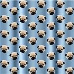 Pug Shower Curtains