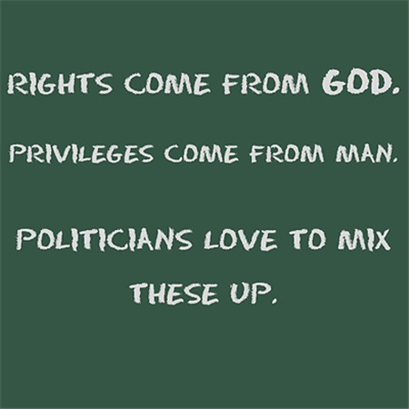 Rights come from God