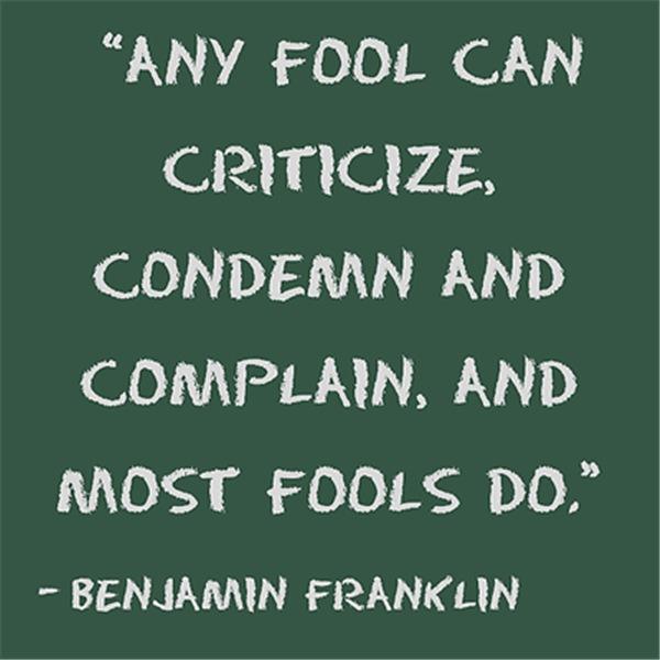 Most fools do