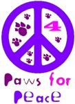 Paws for Peace Purple