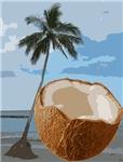Coconut Pineapple Palm Tree Hawaii Beach Paradise