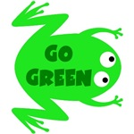 Go Green Frog Ecology T-Shirts & Gifts