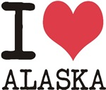 I Love Alaska! States of USA products & designs! C