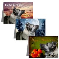 Norwegian Elkhound Greeting Cards