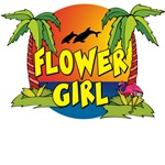 Flower Girl Beach T-Shirts