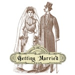 Victorian Wedding Couple T-Shirts