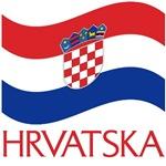 Waving Croatian Flag T-Shirts and Gifts