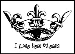I Love New Orleans Fleur de lis Crown