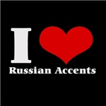 I Love (Heart) russian accents