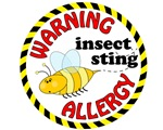 Warning Bee Allergy
