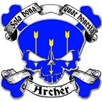 Archer Family Crest Skull