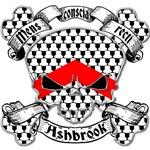 Ashbrook Family Crest Skull