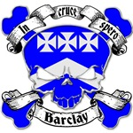 Barclay Family Crest Skull