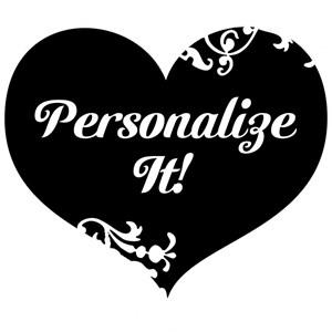Personalized Black Gothic Swirl Heart