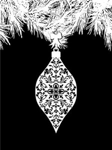 Gothic Pattern Christmas Ornament