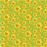 Yellow Pop Daisy Pattern