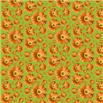 Pop Daisy Orange Pattern