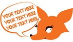 CUSTOM TEXT Cute Fox