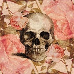 Vintage Rosa Skull Collage
