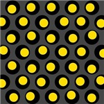Yellow Black Wobble Dots