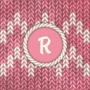 Monogram Pink Knit Graphic