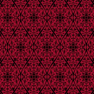 Ornate Red Gothic Pattern