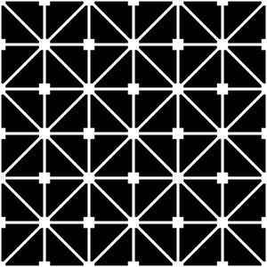Large Black And White Grid Lattice Pattern