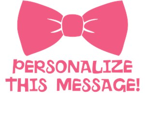 Personalized Pink Bow Tie