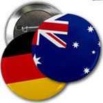 World Flag Pin-back Buttons/Badges (2.25