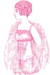 Pink Flapper in Corset Graphic Tees