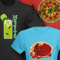 food t-shirts and drink tees