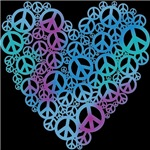 Peace Symbols Heart T-shirts & Gifts