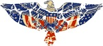 Retro Eagle and USA Flag T-shirts