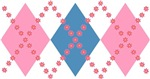 Cute Pink Blue Argyle T-shirts