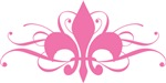 Pink Fleur De Lis With Swirls T-shirts